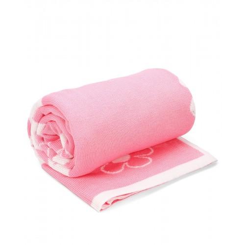 "Плед  ""Ромашки"" розовый с белым"